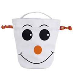 Happy Face With Orange Nose Vector File Drawstring Bucket Bag