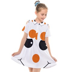 Happy Face With Orange Nose Vector File Kids  Short Sleeve Shirt Dress