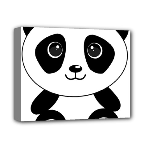 Bear Panda Bear Panda Animals Deluxe Canvas 14  X 11  (stretched) by Samandel