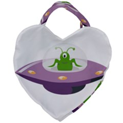 Ufo Giant Heart Shaped Tote by Samandel