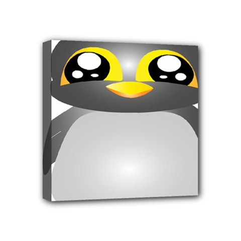 Cute Penguin Animal Mini Canvas 4  X 4  (stretched) by Samandel