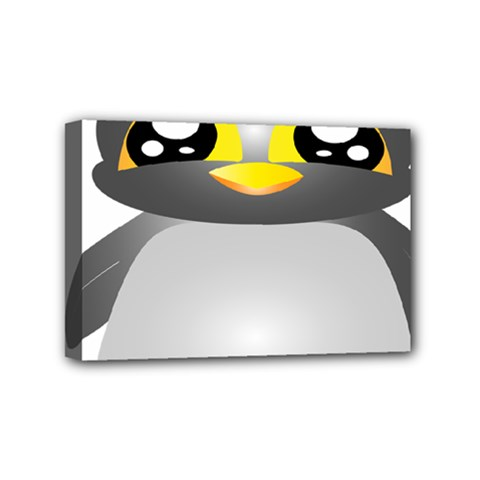 Cute Penguin Animal Mini Canvas 6  X 4  (stretched)