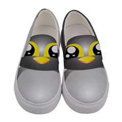 Cute Penguin Animal Women s Canvas Slip Ons