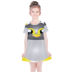 Cute Penguin Animal Kids  Simple Cotton Dress