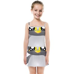 Cute Penguin Animal Kids Summer Sun Dress
