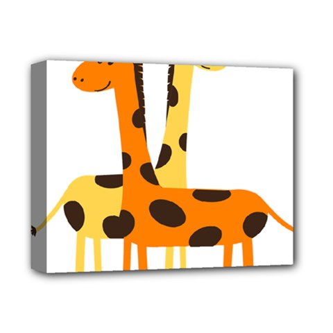 Giraffe Africa Safari Wildlife Deluxe Canvas 14  X 11  (stretched)