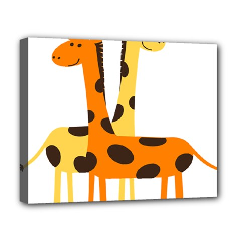 Giraffe Africa Safari Wildlife Deluxe Canvas 20  X 16  (stretched)