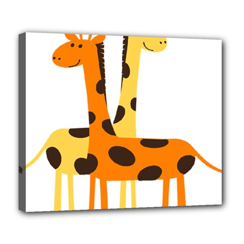 Giraffe Africa Safari Wildlife Deluxe Canvas 24  X 20  (stretched)