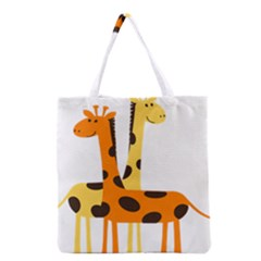 Giraffe Africa Safari Wildlife Grocery Tote Bag by Samandel