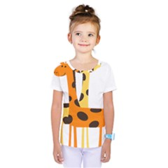 Giraffe Africa Safari Wildlife Kids  One Piece Tee