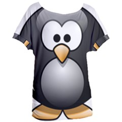 Penguin Birds Aquatic Flightless Women s Oversized Tee