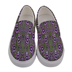 Jungle Fantasy Flowers Climbing To Be In Freedom Women s Canvas Slip Ons