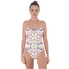Springtime Sonata Bright Tie Back One Piece Swimsuit by plaides