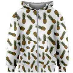 Pinapples Kids Zipper Hoodie Without Drawstring