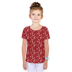 Red White Music Kids  One Piece Tee