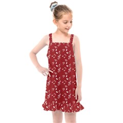 Red White Music Kids  Overall Dress