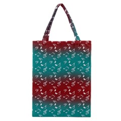 Red Teal Music Classic Tote Bag by snowwhitegirl
