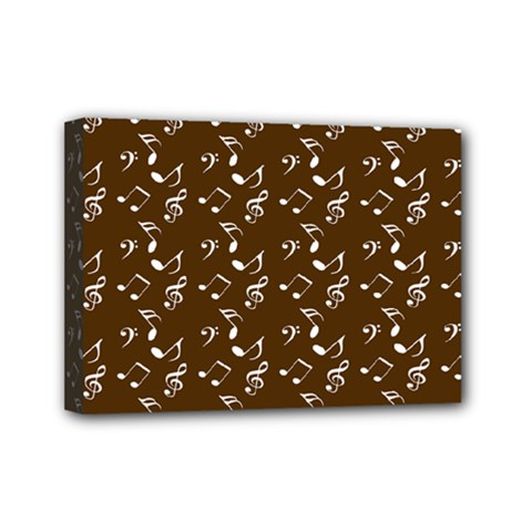 Brown Music Mini Canvas 7  X 5  (stretched) by snowwhitegirl