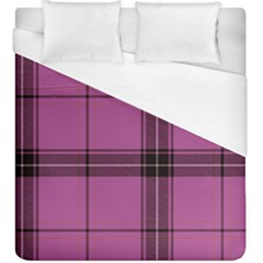 Violet Plaid Duvet Cover (king Size) by snowwhitegirl