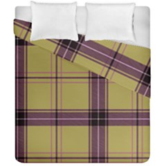 Beige Purple Plaid Duvet Cover Double Side (california King Size) by snowwhitegirl