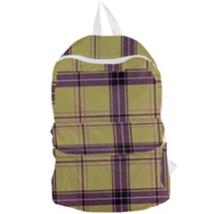 Beige Purple Plaid Foldable Lightweight Backpack by snowwhitegirl