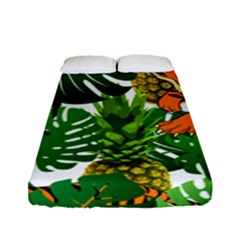 Tropical Pelican Tiger Jungle Fitted Sheet (full/ Double Size) by snowwhitegirl