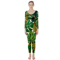 Tropical Pelican Tiger Jungle Long Sleeve Catsuit by snowwhitegirl