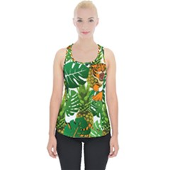 Tropical Pelican Tiger Jungle Piece Up Tank Top by snowwhitegirl