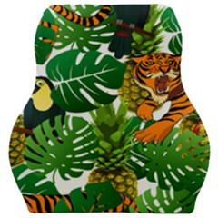Tropical Pelican Tiger Jungle Car Seat Velour Cushion  by snowwhitegirl