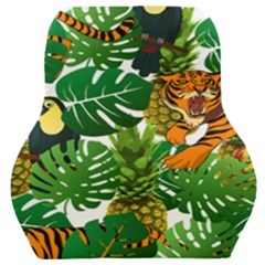 Tropical Pelican Tiger Jungle Car Seat Back Cushion  by snowwhitegirl