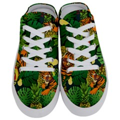 Tropical Pelican Tiger Jungle Black Half Slippers by snowwhitegirl