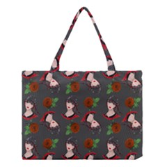 Vintage Flapper Woman Medium Tote Bag by snowwhitegirl
