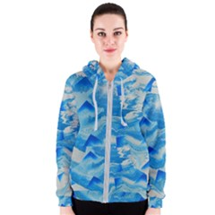 Space Fracture Women s Zipper Hoodie
