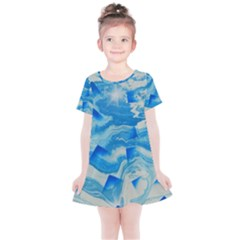 Space Fracture Kids  Simple Cotton Dress by WILLBIRDWELL