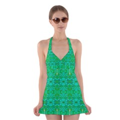Sonata Emerald Halter Dress Swimsuit