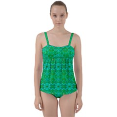 Sonata Emerald Twist Front Tankini Set