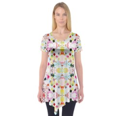 Sonata Bright Short Sleeve Tunic  by plaides