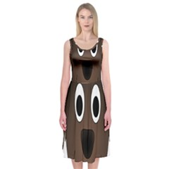 Dog Pup Animal Canine Brown Pet Midi Sleeveless Dress