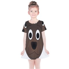 Dog Pup Animal Canine Brown Pet Kids  Simple Cotton Dress by Samandel