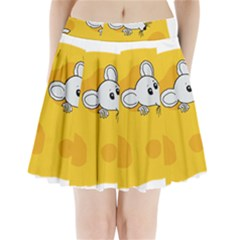 Rat Mouse Cheese Animal Mammal Pleated Mini Skirt