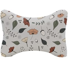 Grey Toned Pattern Seat Head Rest Cushion