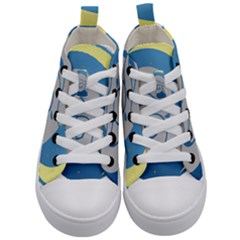 Ram Zodiac Sign Zodiac Moon Star Kid s Mid Top Canvas Sneakers