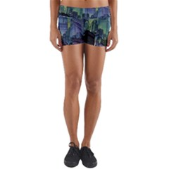 City Night Landmark Yoga Shorts