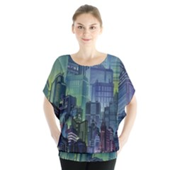 City Night Landmark Blouse