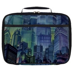 City Night Landmark Full Print Lunch Bag