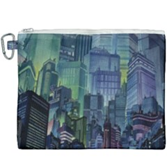 City Night Landmark Canvas Cosmetic Bag (xxxl) by Samandel