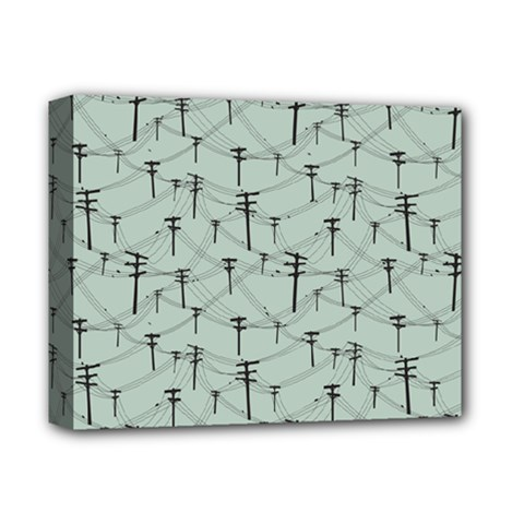 Telephone Lines Repeating Pattern Deluxe Canvas 14  X 11  (stretched)