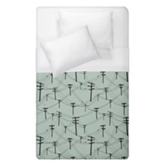 Telephone Lines Repeating Pattern Duvet Cover (single Size)