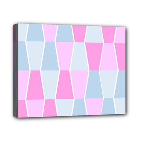 Geometric Pattern Design Pastels Canvas 10  X 8  (stretched)