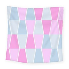 Geometric Pattern Design Pastels Square Tapestry (large) by Samandel